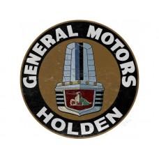 GMH Holden FX FJ Gold Grille round tin metal sign