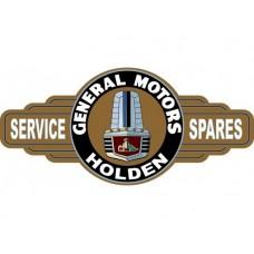 GMH Holden FX FJ Gold Grille Service Station tin metal sign