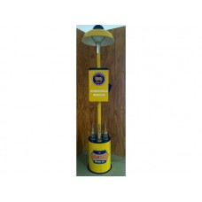Golden Fleece Island light, Oil Bottle and Windshield Washer Stand Illuminated complete with Glass Bottles