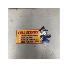 Golden Fleece Full Service tin metal sign