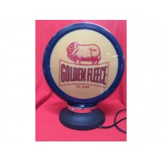 Petrol Bowser Globe and Base Golden Fleece illuminated sign