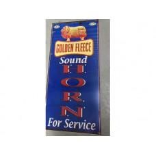 Golden Fleece Sound Horn tin metal sign