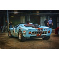 GT 40 1 tin metal sign