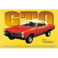 GTO tin metal sign