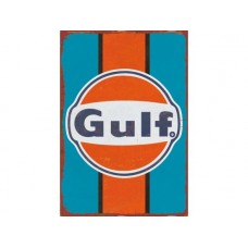 Gulf tin metal sign