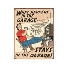 Schoenberg Happens in Garage tin metal sign