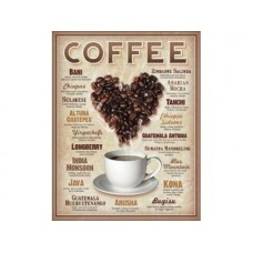 Heart Coffee tin metal sign