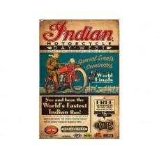 Indian Advert tin metal sign