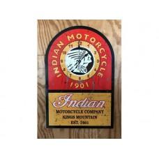 Indian Motorcycle clock tin metal sign