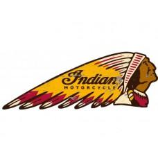 Indian Head tin metal sign