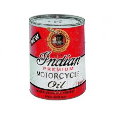 Indian Oil Can tin metal sign