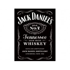 Jack Daniels Black Logo tin metal sign