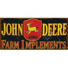 John Deere Implements tin metal sign