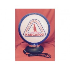 Petrol Bowser Globe and Base Kangaroo illuminated sign