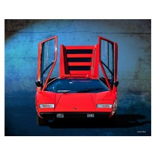 Lamborghini Countach LP400 tin metal sign