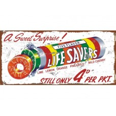 Lifesavers tin metal sign