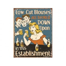 Schoenberg Low Cut Blouses tin metal sign
