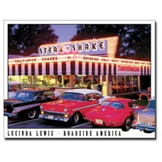 Lucinda Lewis-Steak N Shake tin metal sign