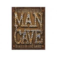 Man Cave tin metal sign