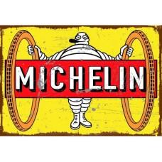 Michelin Big Wheels Large Tin Metal Sign