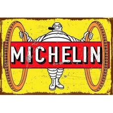 Michelin Big Wheels Tin Metal Sign