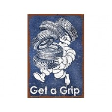 Michelin Get a Grip tin metal sign