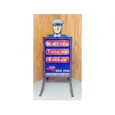 Mobil Driveway Workshop tin metal sign