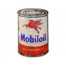 Mobil Oil Can tin metal sign