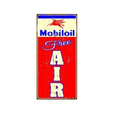 Mobil Oil Free Air tin metal sign