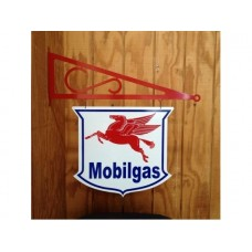 Mobilgas 5 Point Double Sided with hanger tin metal sign