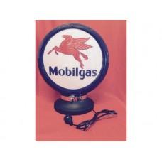 Petrol Bowser Globe and Base Mobilgas illuminated sign