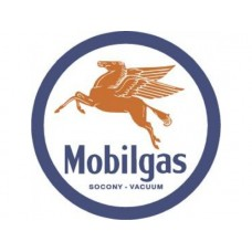 Mobilgas Pegasus tin metal sign