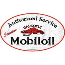 Mobiloil Gargoyle lge oval tin metal sign