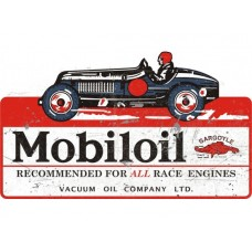 Mobil Racer tin metal sign