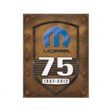 Mopar 75th Anniversary tin metal sign