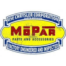 Mopar Chrysler Scroll Large tin metal sign