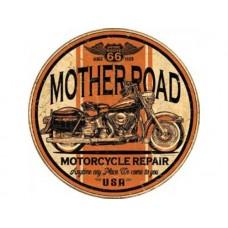Mother Road Repair tin metal sign