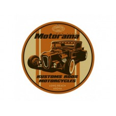 Motorama Kustom Rods tin metal sign