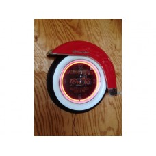 Motorcycle White wall tyre clock red with Fender