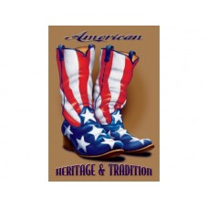 American Heritage and Tradition tin metal sign