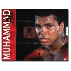 Muhammad Ali tin metal sign