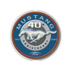 Mustang 40th Round tin metal sign