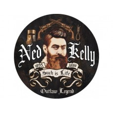Ned Kelly Round tin metal sign