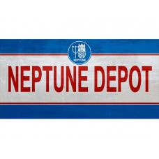 Neptune Depot tin metal sign