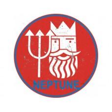 Neptune Large Round tin metal sign