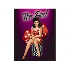 Nice Dice tin metal sign