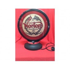 Petrol Bowser Globe and Base Norton illuminated sign