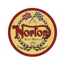 Norton Since 1898 tin metal sign