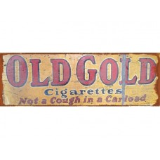 Old Gold Cigarettes tin metal sign