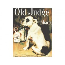 Old Judge Tobacco Bull Dog tin metal sign